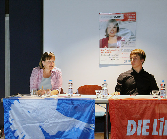Heike Hänsel und David Trunz