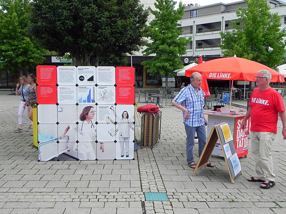Aktionasstand in Bad Krozingen