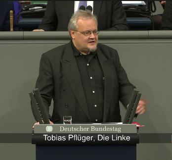 Tobias Pflüger im Bundestag