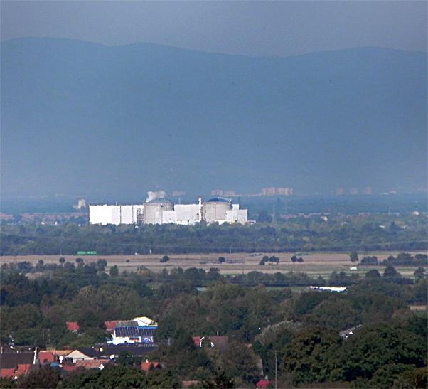 Kraftwerk Fessenheim Rheinebene