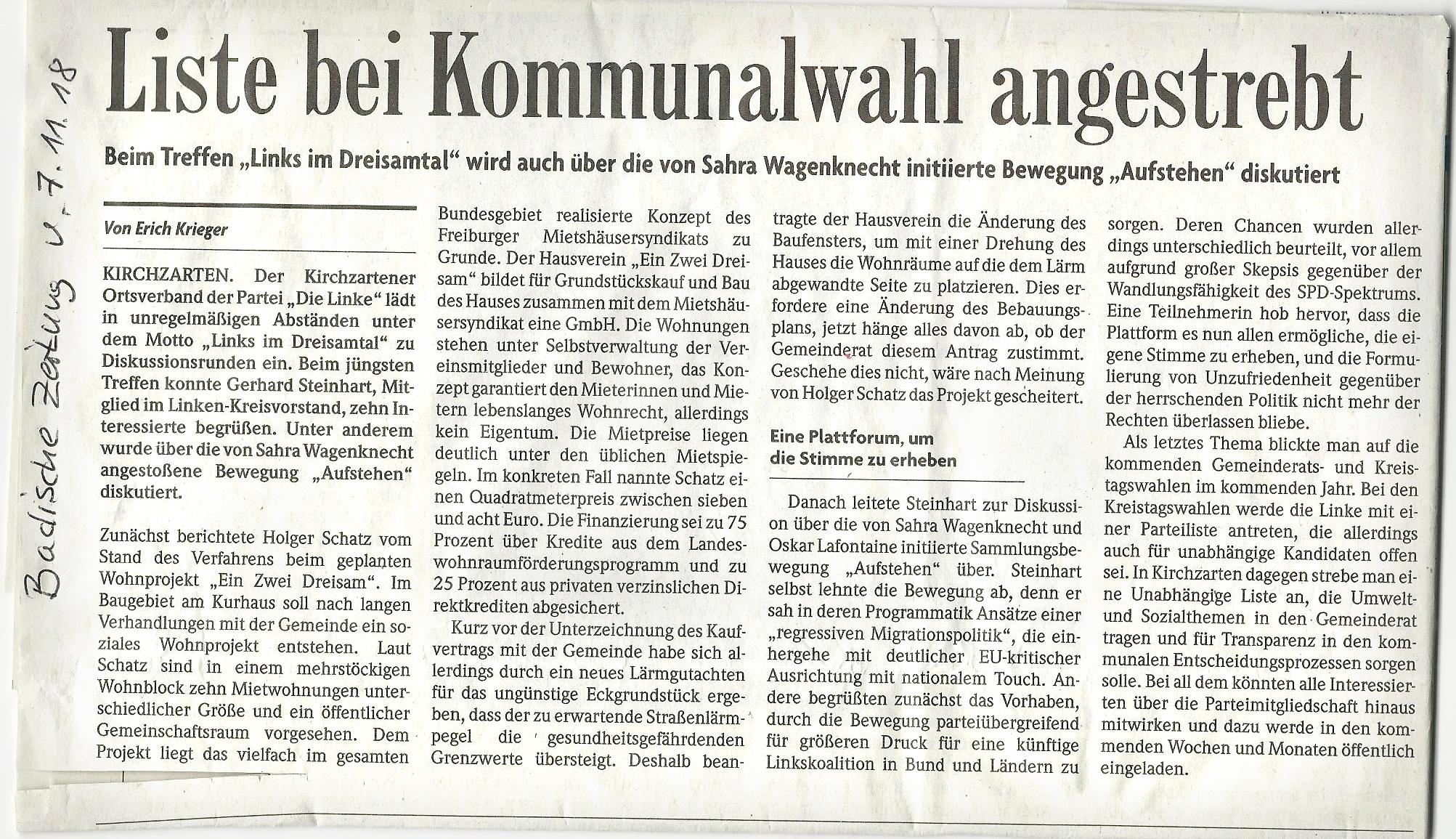 badische Zeitung 08.11.2018