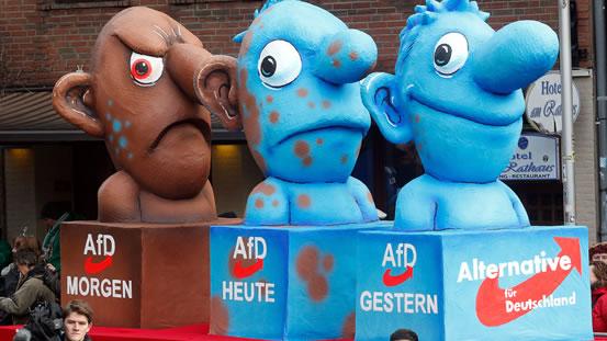 Die AfD gestern, heute und morgen (Foto: Roland Weihrauch/dpa)