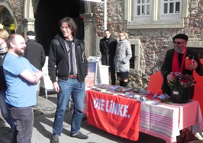 Infostand Marktplatz Reutlingen am 09. März 2013