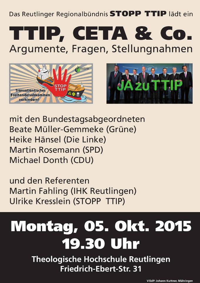 Plakat Pro und Contra TTIP_2 5Okt15