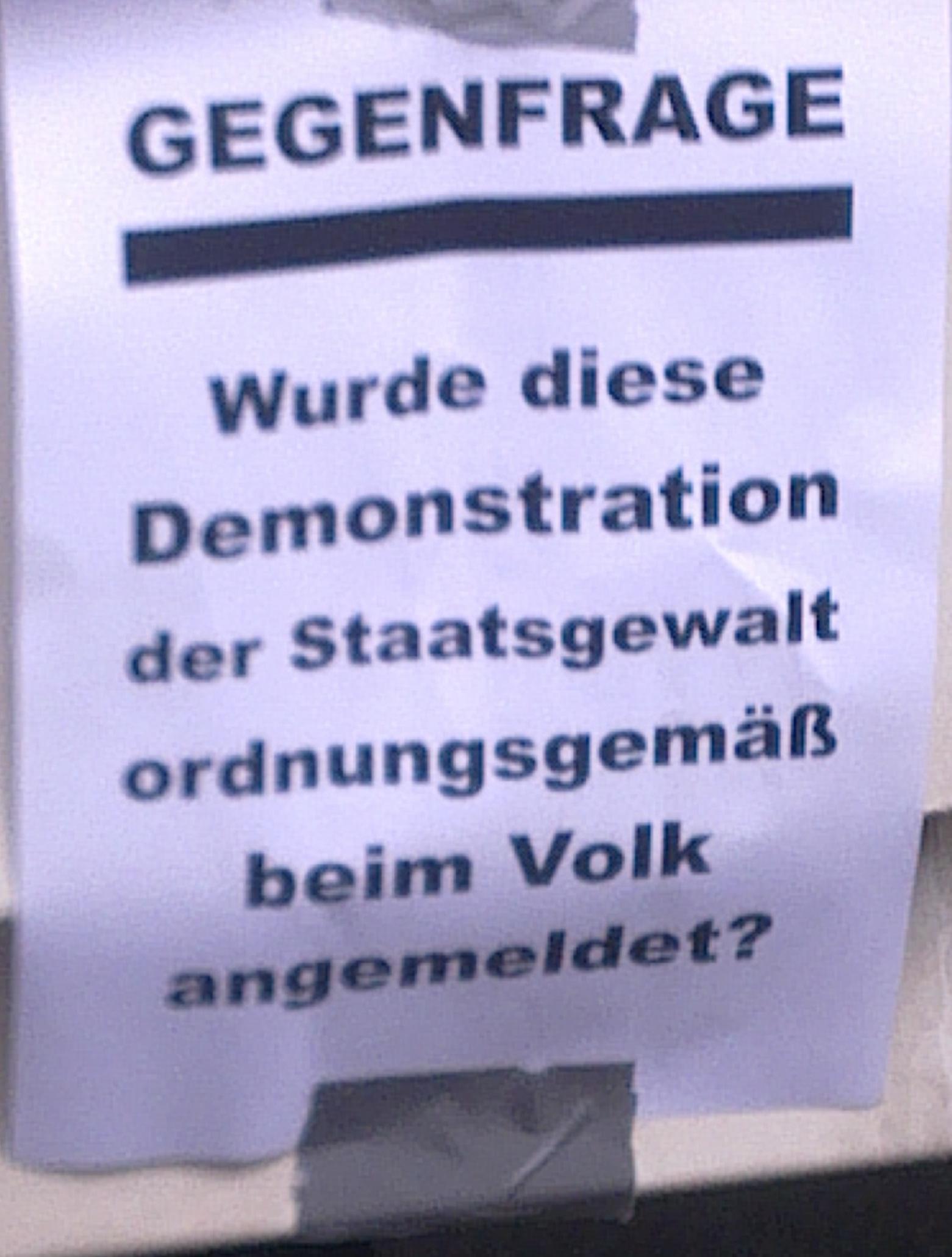 Plakat Gegenfrage