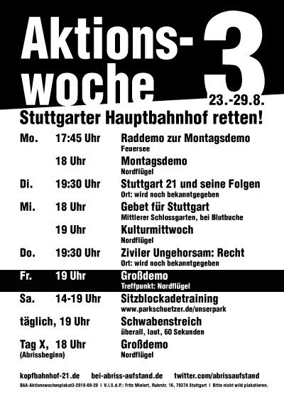 Stuttgart 21 Aktionswoche 3