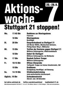 Stuttgart 21 Aktionswoche 7