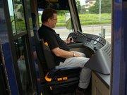 Peter Rauscher im Fahrzeugstand