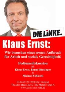 Podium Ernst-Riexinger-Schlecht